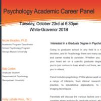 Psychology Academic Career Panel