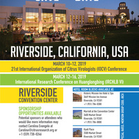 2019 Joint International Organization of Citrus Virologists (IOCV) & International Research Conference on HLB (IRCHLB), Riverside, CA