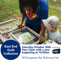 Oakwood Arts East End Quilt Collective: Come Make a Cyanotype!