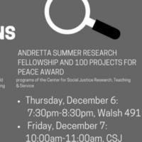 CSJ Summer Fellowship Info Sessions