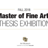 Fall 2018 Master of Fine Arts Thesis Exhibition Opening Reception