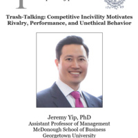 Psychology Colloquium: Trash-talking: Competitive incivility motivates rivalry, performance, and unethical behavior
