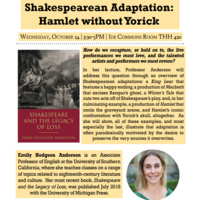 Prof. Emily Anderson's Book Launch - Shakespeare and the Legacy of Loss