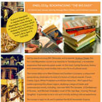 "ENGL-352g: BOOKPACKING ""THE BIG EASY"" Maymester Info Session"