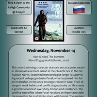 MLL International Film Series - Russian | Modern Languages and Literatures