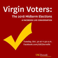 """Facebook Live: """"Virgin Voters: The 2018 Midterm Elections"""""""