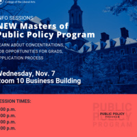 Master of Public Policy Program Info Sessions