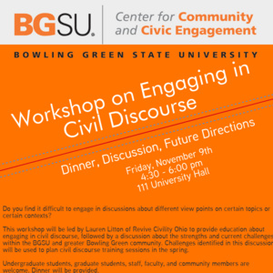 Workshop on Engaging in Civil Discourse