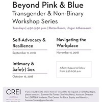 Beyond Pink & Blue: Transgender & Non-Binary Workshop Series