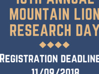 Submit Abstracts to Mountain Lion Research Day