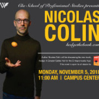 Guest Speaker Nicolas Colin