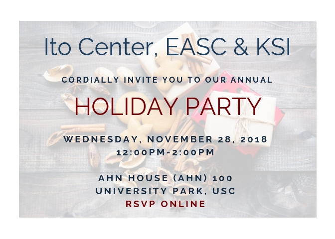 Ito Center/EASC/KSI Joint Holiday Party > Event Details