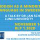 "Talk: ""Yiddish as a Minority Language in Sweden,"" Dr. Jan Schwarz (Lund University)"