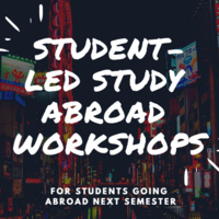 """Study Abroad Workshop"""" Managing Your Finances Abroad"""