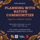 Planning with Native Communities