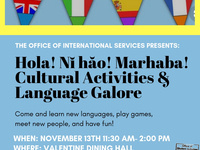 Hola! Ni Hao! Marhaba! Cultural Activities and Language Galore