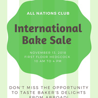 International Bake Sale