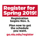 Register for Spring 2019 Classes