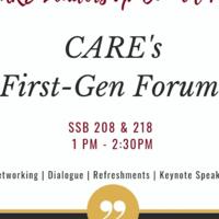 CARE'S First-Gen Forum