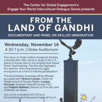 From the Land of Gandhi: Documentary Screening and Panel Discussion (An Engage Your World Series Event)