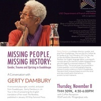 Guadeloupian writer Gerty Dambury: Missing People, Missing History: Gender, Trauma and Uprising in Guadeloupe