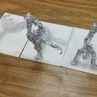 Tin Foil Shadow Sculptures