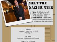 (Event Canceled)  Meet the Nazi Hunter: Efraim Zuroff