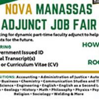 NOVA Manassas Adjunct Job Fair