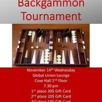 International Week 2018 - Backgammon Tournament  | Global Union