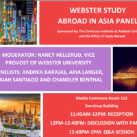 Webster Study Abroad in Asia Student Panel
