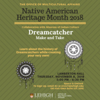 Native American Heritage Month: Dreamcatcher Make and Take   Multicultural Affairs