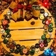 Make this rustic, charming bottle-cap wreath!
