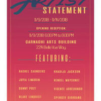 Opening Reception: Artist Statement