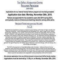 Deadline: DePaul Humanities Center Faculty Fellowship Applications!