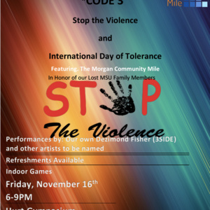 Stop the Violence & International Day of Tolerance