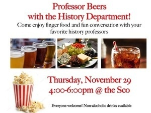 Professor Beers with the Department of History
