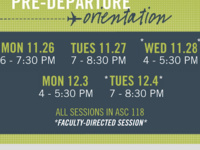 Study Abroad Pre-Departure Orientation *Faculty-Directed*