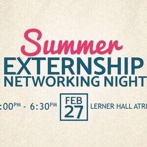 Summer Externship Networking Night