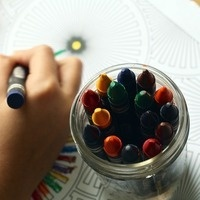 Coloring to calm at Founders Library!