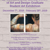The 11th Annual Joyner Library School of Art and Design Graduate Student Art Exhibition