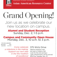 Asian American Resource Center Grand Opening Alumni Reception
