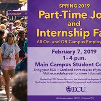 Spring Part-time Jobs and Internship Fair