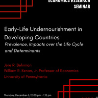 Early Life Undernourishment in Developing Countries