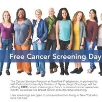 Free Cancer Screening Day provided by Manhattan Cancer Services Program at NewYork-Presbyterian Columbia University Irving Medical Center
