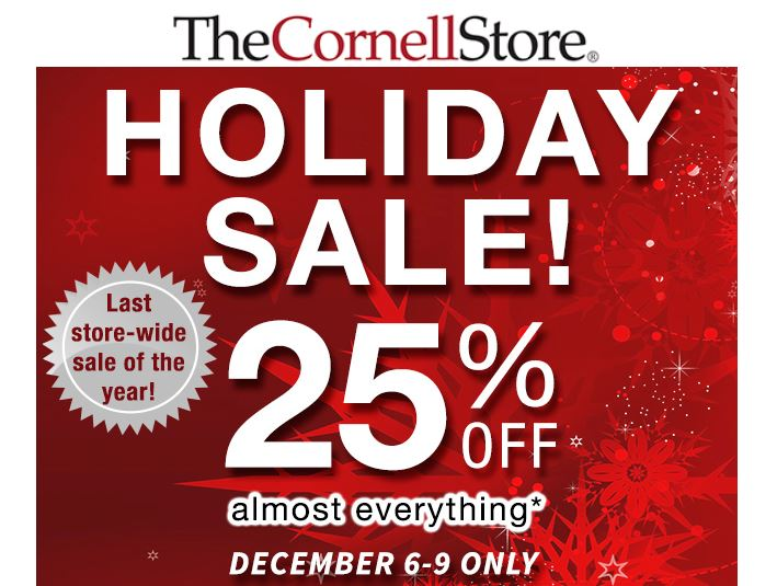 25% off Holiday Sale at The Cornell Store - Cornell