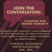 Join the Conversation: Claiming Our Shared Humanity