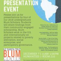 Blum Scholar Presentation Event