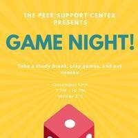 Peer Support Center Game Night