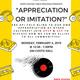 """""""Appreciation or Imitation?"""""""