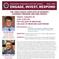 Lecture: The JAMA Fiasco - Conflicts-of-Interest, Academic Freedom, and Free Speech